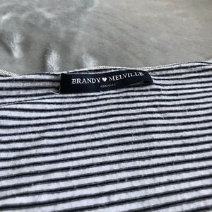 Tops - striped brandy melville top